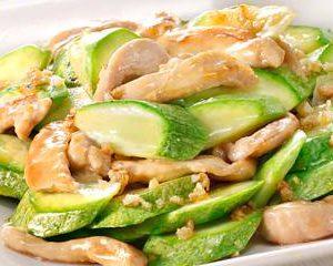 翠肉瓜炒無激素雞柳材料包